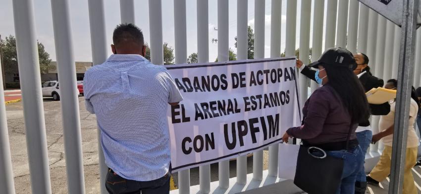 Comisiones de padres y madres de familia de El arenal y Actopan en apoyo a la universidad politécnica de Francisco I. Madero.