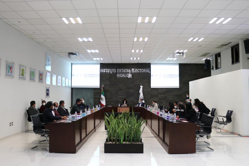IEEH da inicio al seguimiento de Sesiones de Cómputo de votos de los 84 municipios