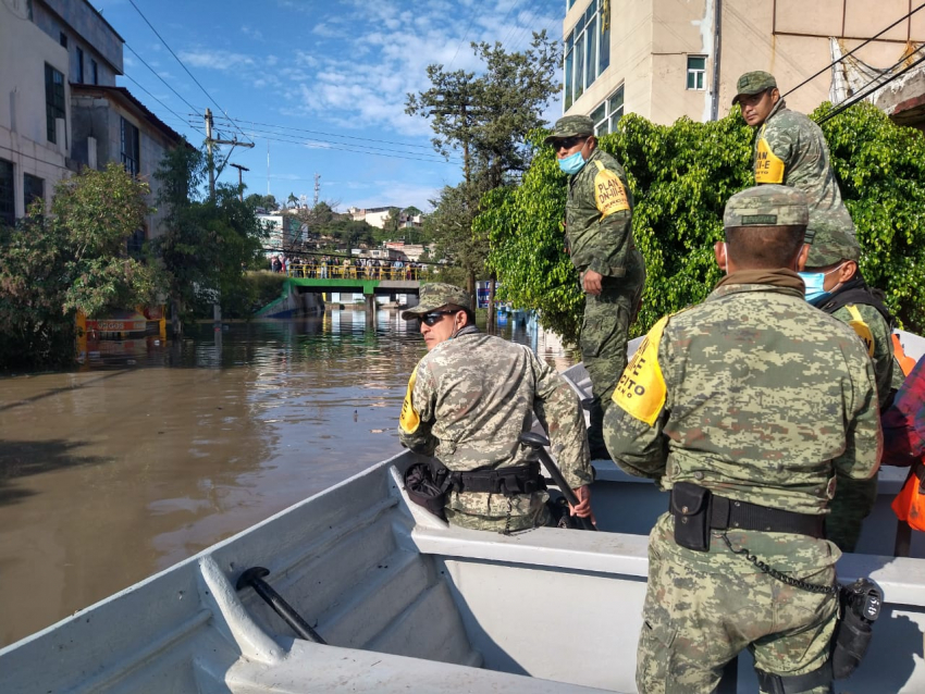 Evacuan a la población que se encuentra asentada cerca del Río Tula