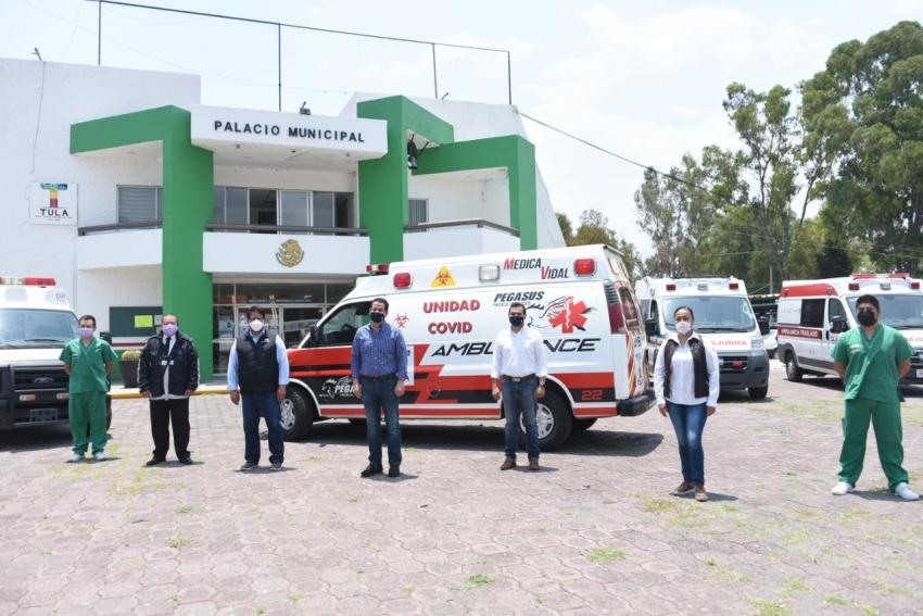 En Tula, suman ambulancia exclusiva para pacientes COVID-19.