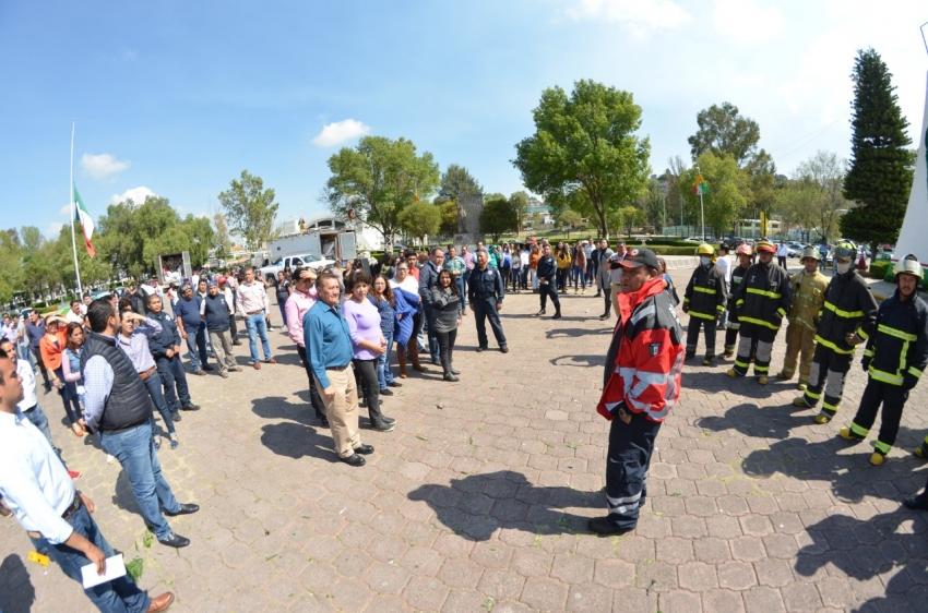 En el marco del Día nacional de Protección Civil realizan con éxito simulacro en Tula