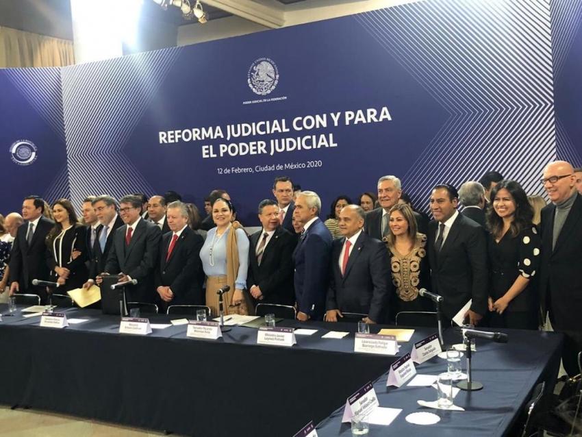 Presentación del paquete de reformas al Poder Judicial de la Federación