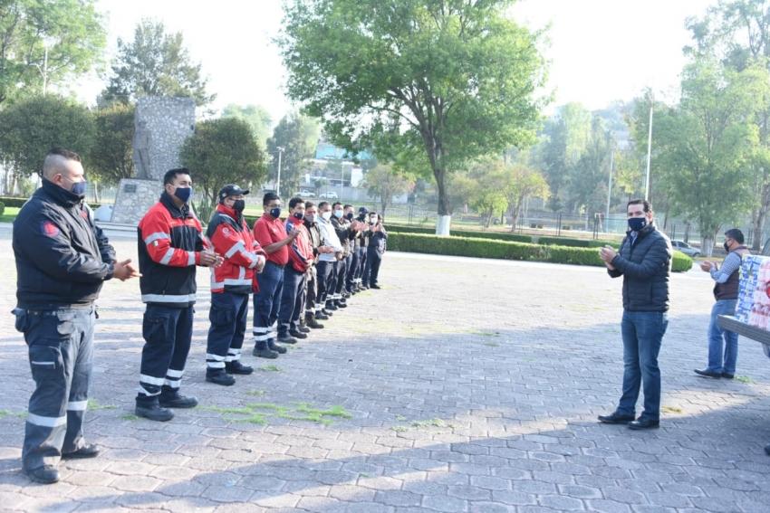 Fortalecen a Protección Civil y Bomberos de Tula con entrega de equipo.