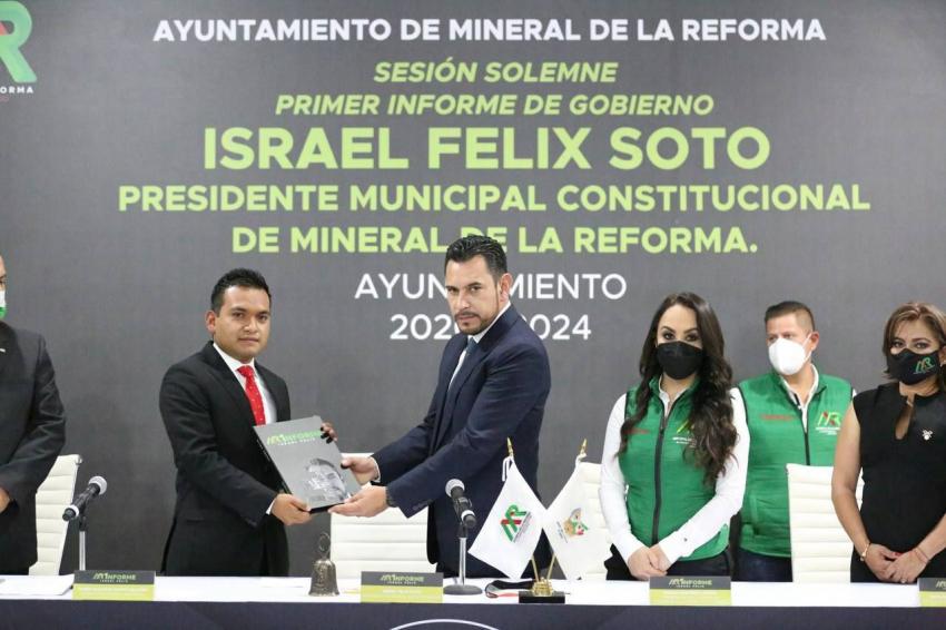 Acciones, resultados y avances, primer informe Israel Felix Soto