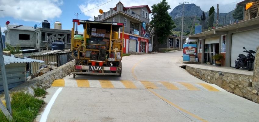 Se realiza acciones de balizamiento en la red carretera estatal.