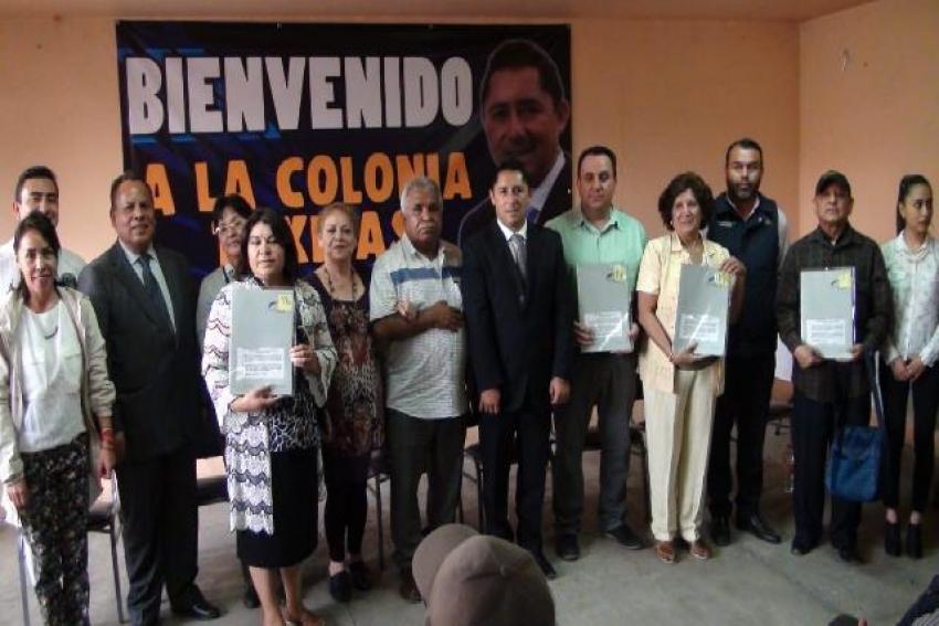 IMPULSA RAÚL CAMACHO CERTEZA JURÍDICA EN LA COLONIA TAXISTAS EN MINERAL DE LA REFORMA